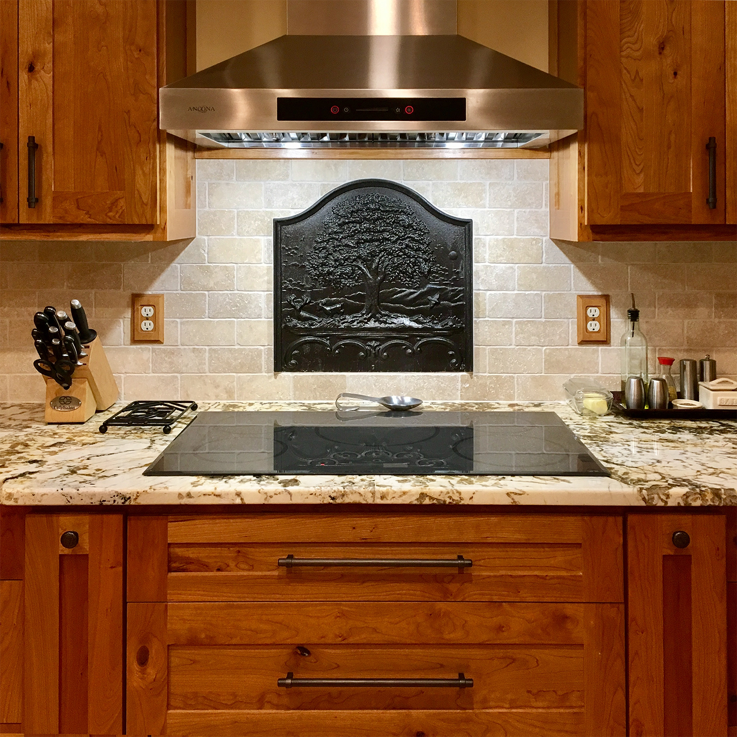 Tall Oak Fireback Backsplash